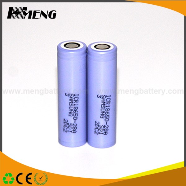 Wholesale price Samsung 3.7 Volt 2800 mAh ICR18650-28A rechargeable li-ion 18650 battery