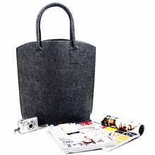 Wholesale eco-friend reusable heavy duty soft tote felt shopping bag