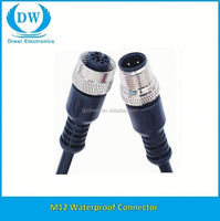 ip67 m12 connector 5pin cable simple design circular connector M12 from China workshop