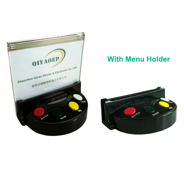 Wireless server call system paging system with menu holder