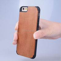 Fashion ultra thin PC+Wood Bamboo Wooden cover nature wood case for iphone 6 wholesale
