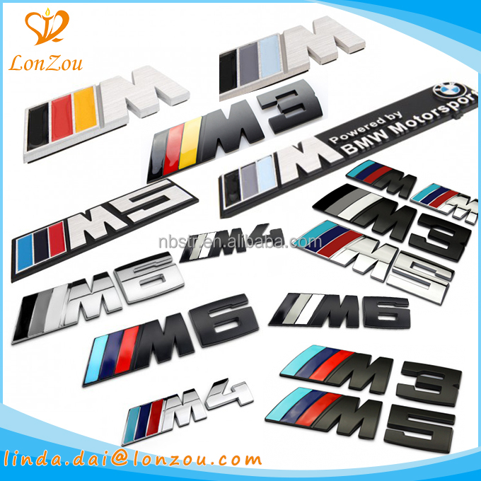 Waterproof 3d luxury car emblem badge custom metal car emblem for bmw