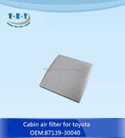 87139-30040 cabin filter for toyota