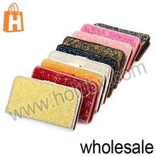 3D Artificial Diamond Wallet Card Slots Stand Flip Leather Case for Samsung Galaxy S4 i9500 i9505 i9508