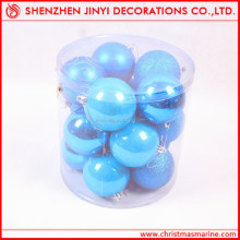 Hot Sale!2013 promotional 6cm christmas blue matt decorative ball