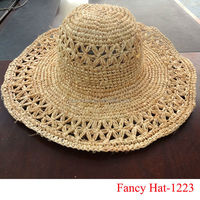 Fashion Summer Skimmer boater straw hat wholesale