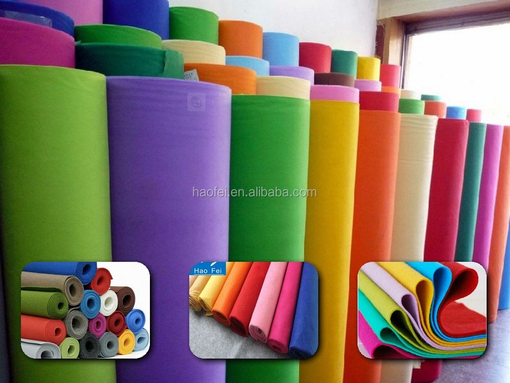 Colorful Polyester Soft Needle Punched Felt