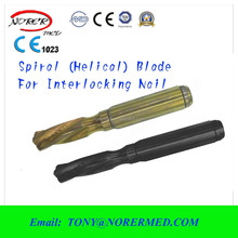 Titanium Spiral (Helical) Blade.tibial Interlocking nail-2 ,tibial Intramedullary Nail