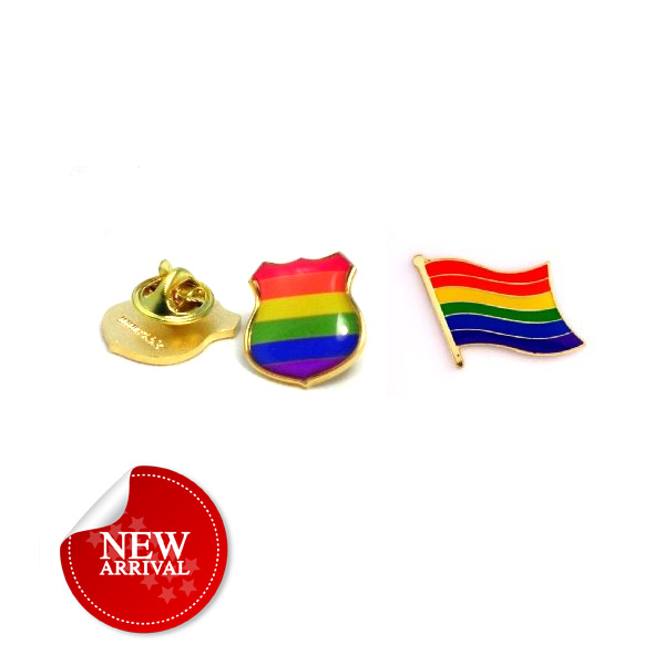 custom decorative gay pride awareness metal rainbow lapel pins
