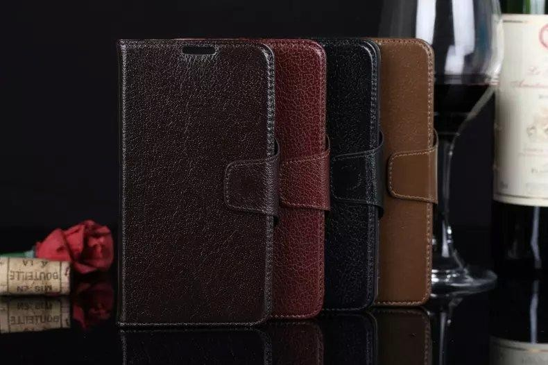 Gliiters Genuine Real Yak Leather Case For Samsung Galaxy Note 3 Cover Litch Mobile Cell Phone Case Wallet Stand Accessories