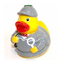 Custom made vinyl duck figure soft baby bath toy with ICTI certificate