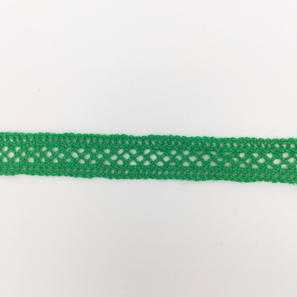1.1cm OLCT2369 Green style cotton cord lace african latest tulle laces