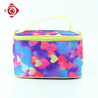 Fashionable polyester organizer display cosmetic makeup case