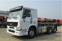 Brand new sinotruck howo 336hp manual transmission tractor trailer trucks 6x4 for sale trailer head price