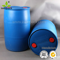 100%virgin HDPE 210L blue plastic rain water barrels for water packing