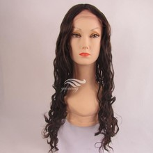 Streaked Color Mongolian Hair Topper Wig Curly