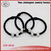 Wholesale Handmade Diamond Hair Accessories Elastic Hairbands Ponytail Holders