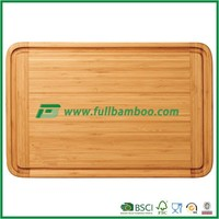 Fullbamboo Large Square Bamboo Vegetable Fruit and Meat Cutting Board