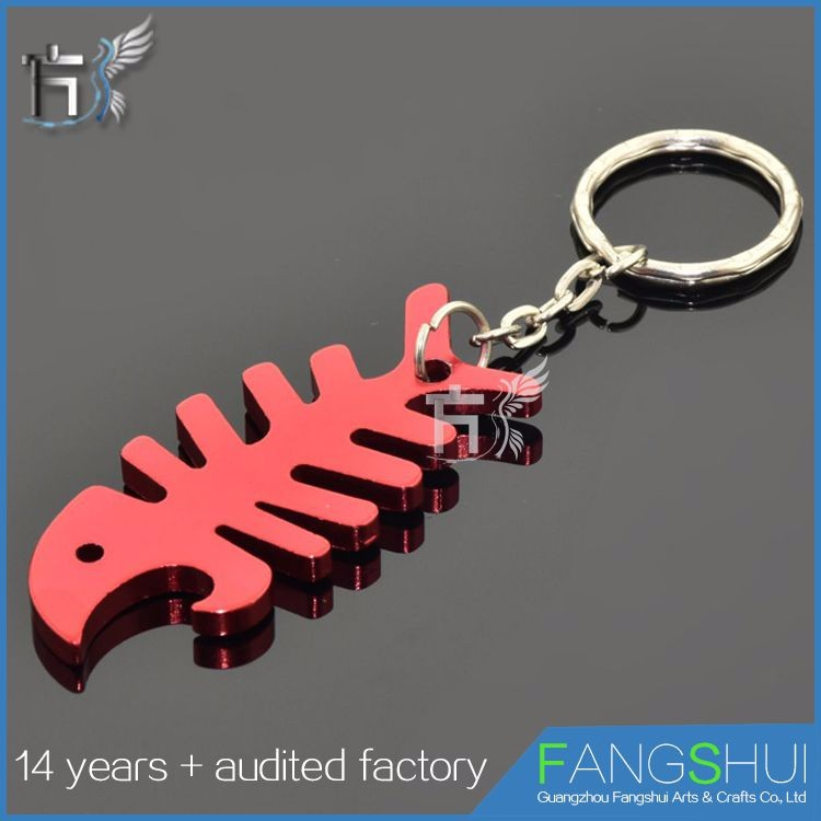 Factory price promotional bottle opening key rings