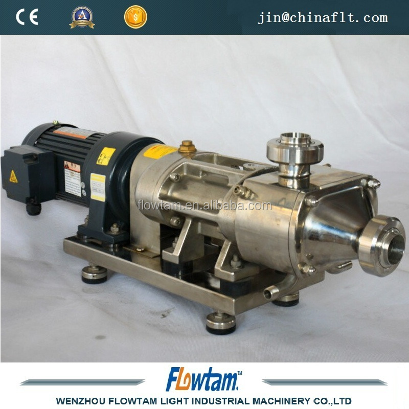 Stainless steel twin screw rotary pumps with VSD