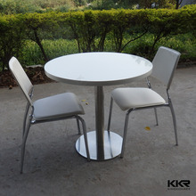 KKR restaurant white table , restaurant furniture
