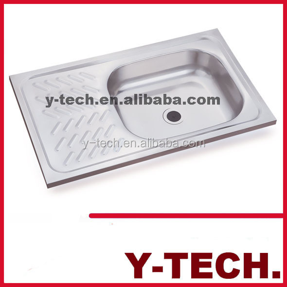 Hot Sale Stainless Steel Top Mount Kitchen Sinks With Drainboard YK7344A
