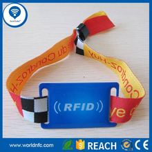 Radio Controlled RFID Woven Ribbon Wristband