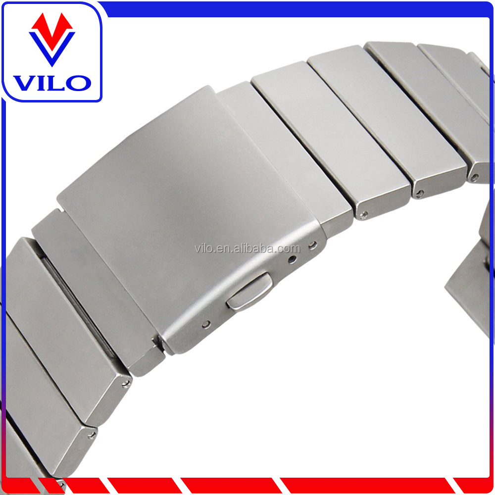 Lux silver orginal Solid Stainless Steel Metal Link Bracelet Replacement Strap for Samsung S3