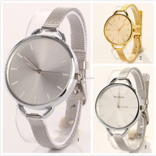 Hot Sale! Alloy Case Quartz Watches Reloj Stainless Steel Back Japan Movt