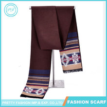 High Quality Fashion Brown Striped Winter Cashmere Scarf