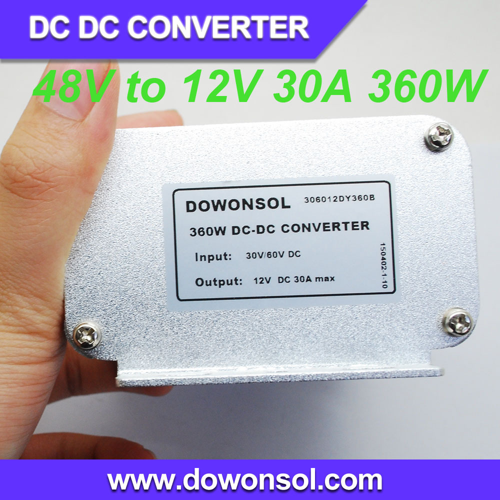 48V to 12V 30A 360W waterproof DC/ DC converter step down power module