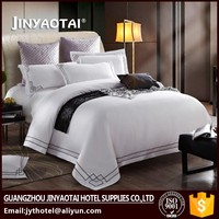 Wholesale Cotton Hotel Luxury Embroidered Bedding Set / Bed Sheet Cover