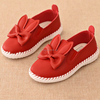 F10085E Girls' boutique shoes rabbit ears pattern cute girls leather shoes beautiful design