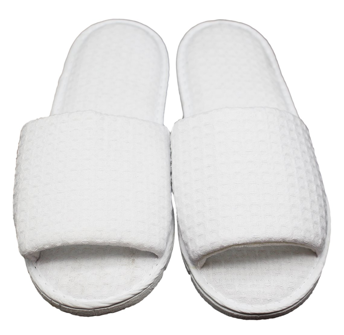 2020 Good Quality Hot Sale Hotel Spa Slippers Waffle open Toe Home Guest Slippers