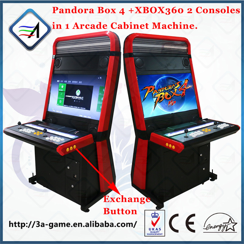 Arcade Games Coin Operated Pandora Box 4 and XBOX360 Game 2 in 1 Taito Vewlix-L Cabinet Fighting Arcade Video Game Machines