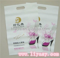 PERSONALISED PUNCH PLASTIC DIE CUT BAG WITH GOOD SELLING
