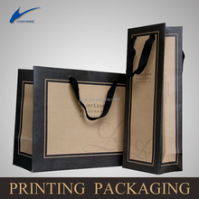 Eco-friendly brown kraft paper bag,wine packaging bag,gift paper bag