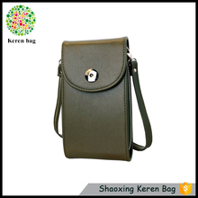KEREN pu leather waterproof cell mobile phone sling bag