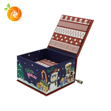 Hot Sale High Quality Paper Box Custo Made Hand Crank Music Box