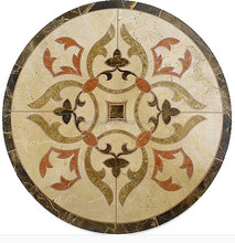 Waterjet Marble Floor Medallion Marble Floor Tile Inlay, Honed