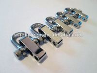 forged d shape small adjustable bow stainless steel shackle