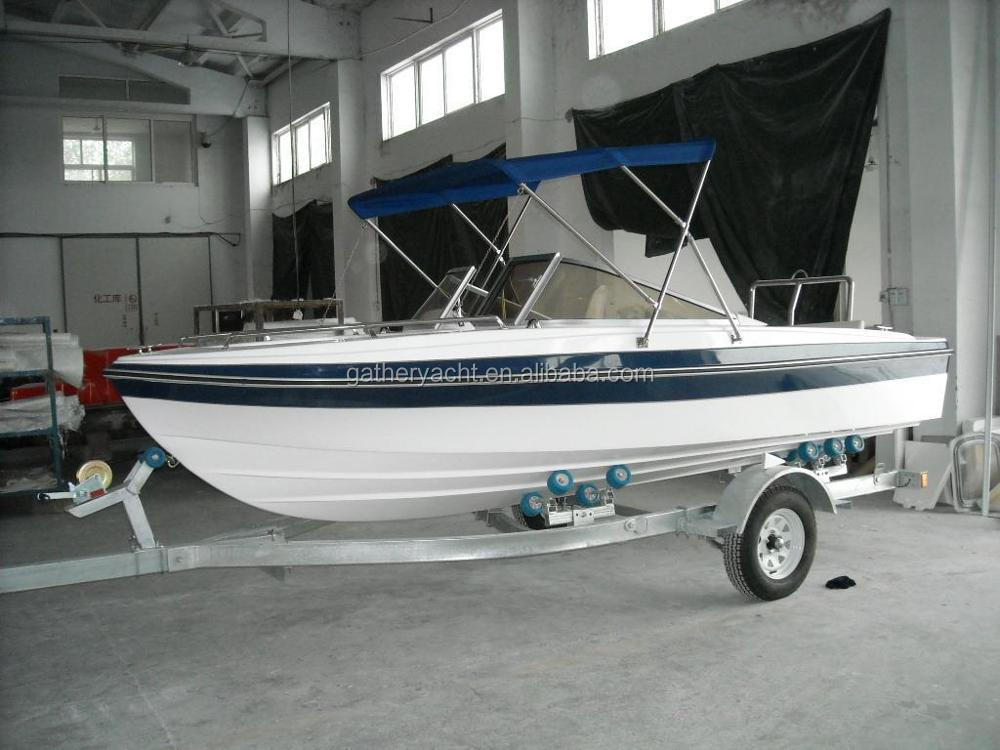 Gather Yacht 16ft fiberglass mini speed boat for sale