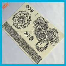 The art of craftsmanship print henna sticker tattoo
