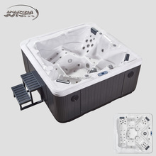 Luxury massage hydro spa hot tub for 5 person use hot tub spa