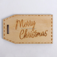 Wholesale christmas ornament wooden craft wood tag custom with embossed printing