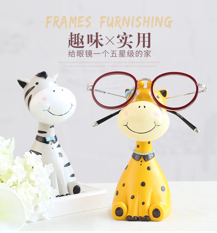 ROOGO Animals Shape 3D Resin Eyeglass Frame Holders For Eyewear Store Diaplay