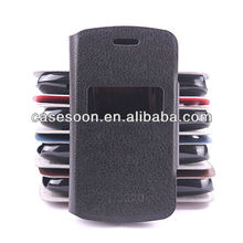 Leather case for Nokia Asha 302 / 3020 Pattern With Stand with caller ID display function