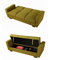 2016 New model Folding Sofa Bed with a Large Storage Sofa Foam Sets