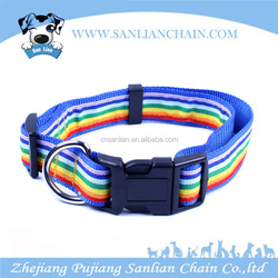 Heavy duty nylon rainbow color tape pet products pet dog collar