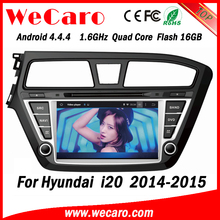 Wecaro WC-HI8081L android 4.4.4 1024 x 600 HD touch screen car dvd player for hyundai i20 radio gps navigation system 2014 2015
